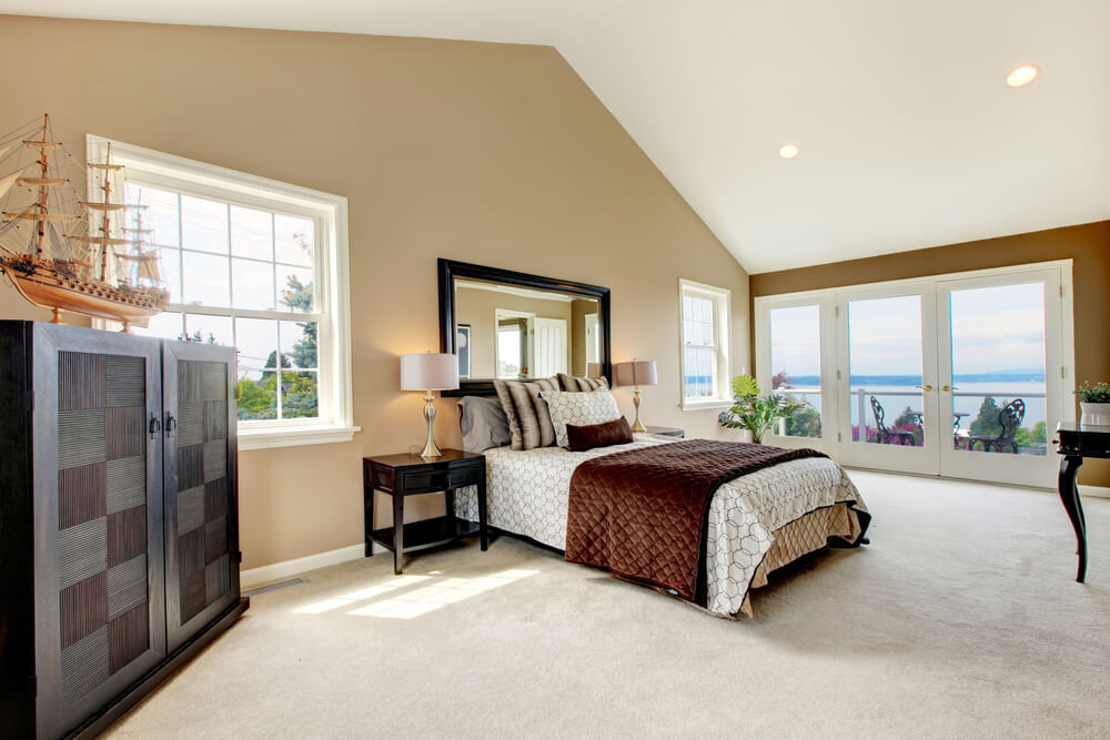 Size View And Cathedral Ceiling Make This Bedroom