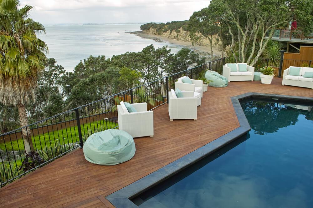 backyard pools on a hill backyard pool on a hill. Black Bedroom Furniture Sets. Home Design Ideas