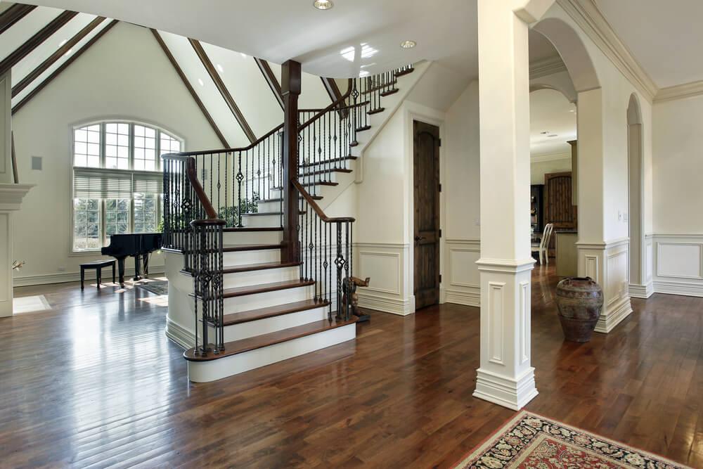 Front Foyer Staircase : Custom luxury foyer interior designs