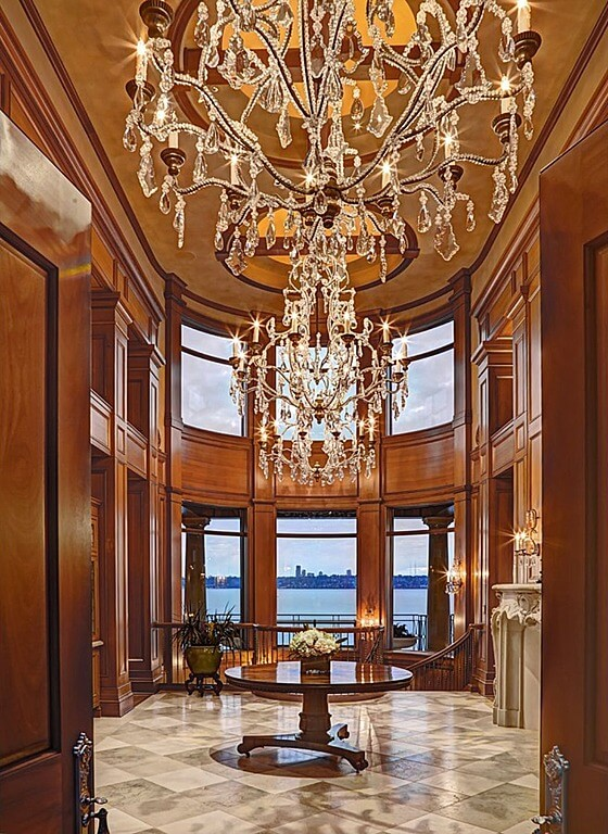Two Story Foyer Paneling : Custom luxury foyer interior designs