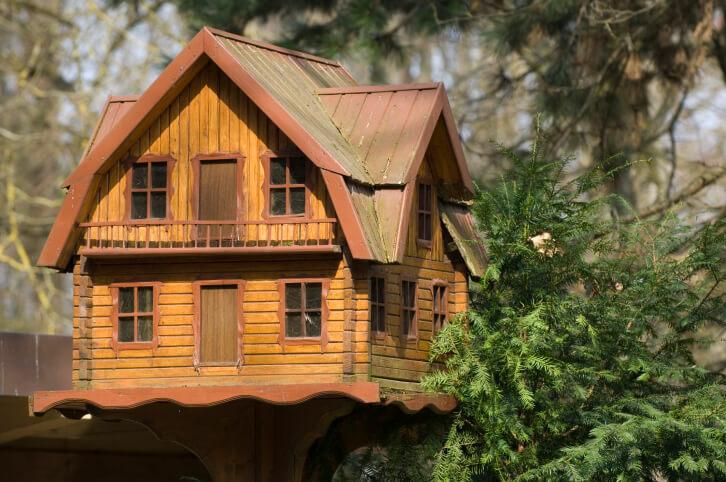 Large Decorative Log Home Bird House On A Pole It 39 S A 2