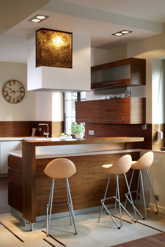 43 small kitchen design ideas some are incredibly tiny for Bar counter designs small space