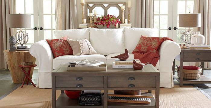 Storage can be found in a multitude of places, including in small drawers located in your coffee table and end tables. Fight the clutter!
