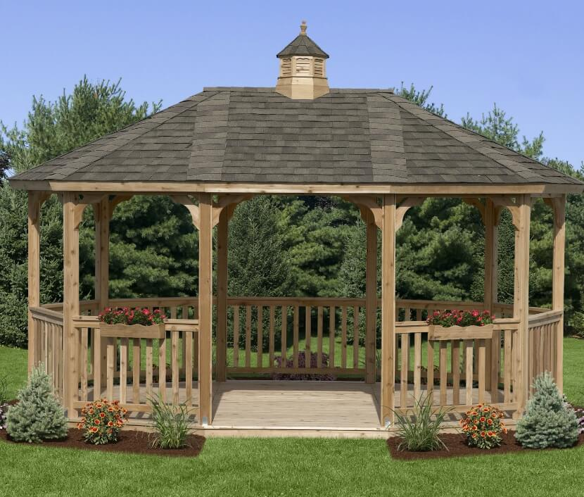 Adding window boxes and small landscaping plots around your gazebo helps integrate it into the existing environment. You'll feel as though your gazebo was always there.