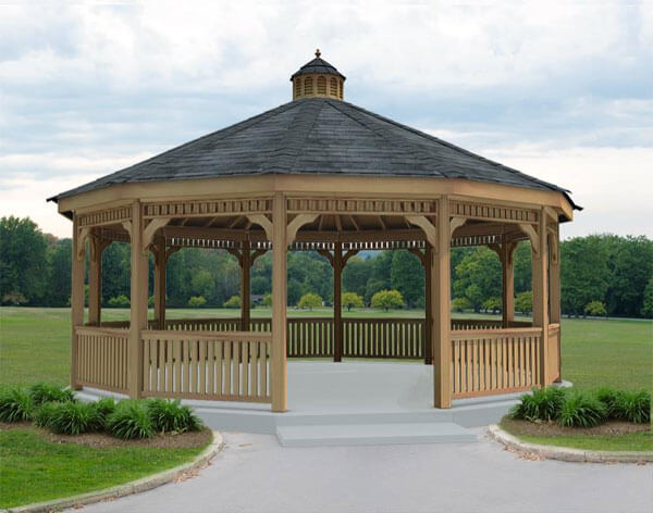 Dodecagon gazebos have twelve sides and are ideal for building enormous gazebos fit for entertaining large crowds.