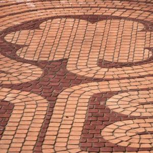 Intricate mosaic patio design