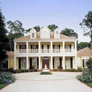 Exterior photo of contemporary plantation home