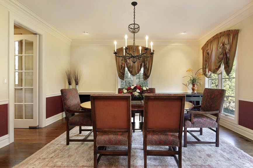 126 luxury dining rooms part 2 for Burgundy dining room ideas