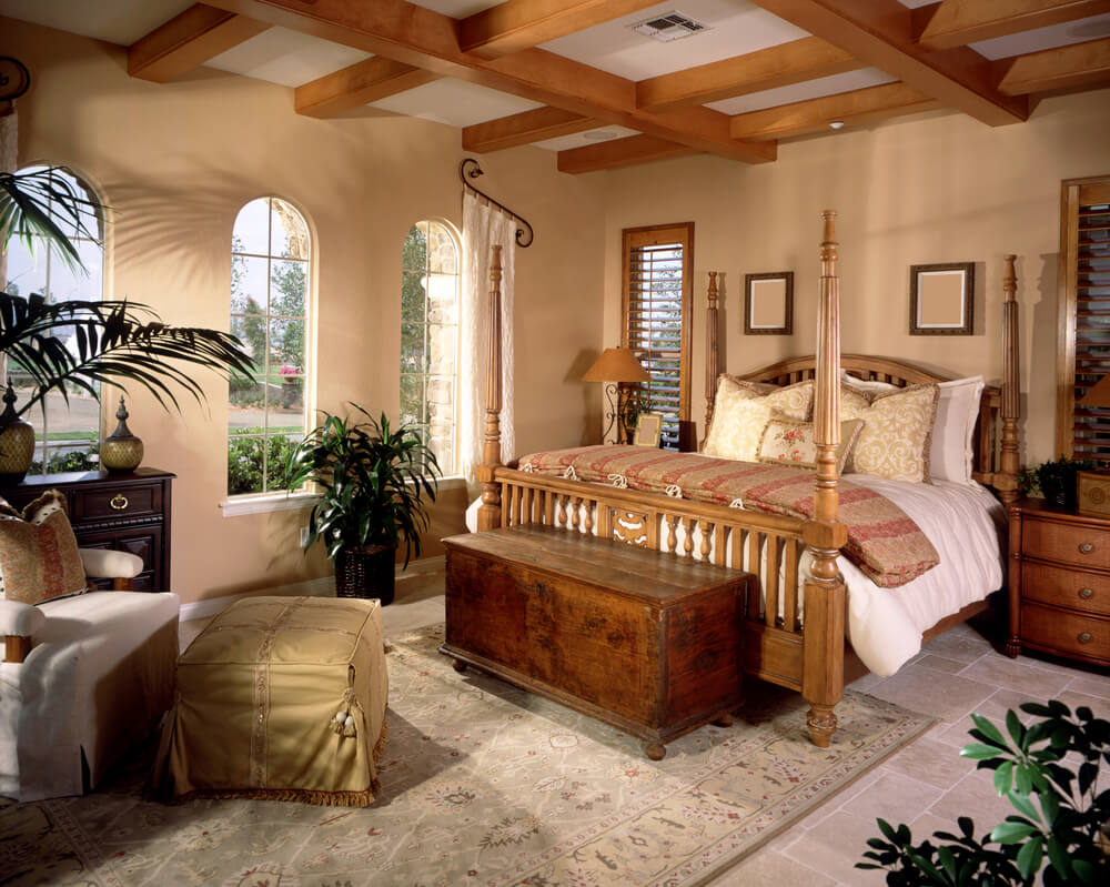 Large Ornately Designed Master Bedroom With Separate Living Room