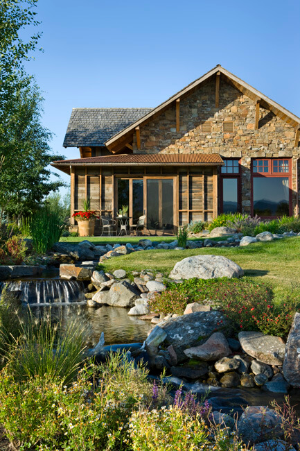 "Cascading river built into the yard. Builder: Schlauch Bottcher Construction Interior Design: <a href=""https://www.locatiarchitects.com/"">Locati Interiors</a> Photography: <a href=""https://www.rogerwadestudio.com/"">© Roger Wade Studio</a>"