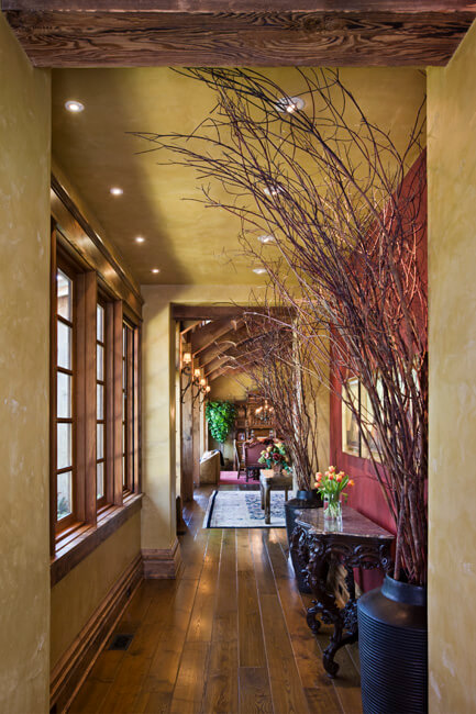 "View down main hallway looking into great room. Builder: Schlauch Bottcher Construction Interior Design: <a href=""https://www.locatiarchitects.com/"">Locati Interiors</a> Photography: <a href=""https://www.rogerwadestudio.com/"">© Roger Wade Studio</a>"