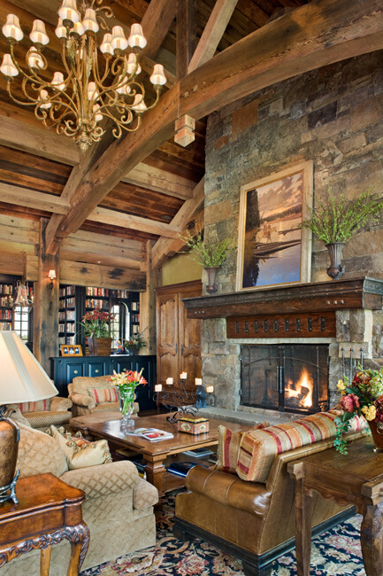 "Close-up view of great room fireplace. Builder: Schlauch Bottcher Construction Interior Design: <a href=""https://www.locatiarchitects.com/"">Locati Interiors</a> Photography: <a href=""https://www.rogerwadestudio.com/"">© Roger Wade Studio</a>"