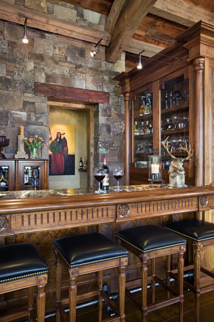 "Close-up view of dining room bar. Builder: Schlauch Bottcher Construction Interior Design: <a href=""https://www.locatiarchitects.com/"">Locati Interiors</a> Photography: <a href=""https://www.rogerwadestudio.com/"">© Roger Wade Studio</a>"
