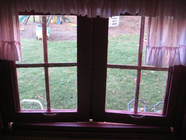 Looking out the playhouse windows