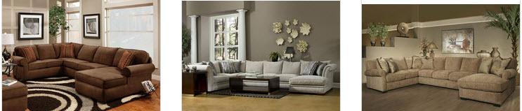 Semi-circular sectional sofa