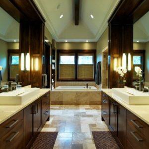 Beautiful primary bathroom by Nordby Design Studios