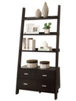 Ladder shelf with drawers