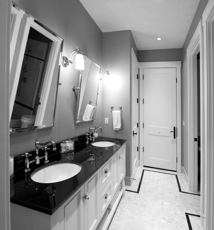 How To Hang Bathroom Mirror: Custom Home Interior By Nordby Design Studios