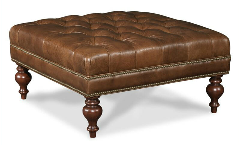 36 top brown leather ottoman coffee tables Leather tufted ottoman coffee table