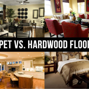 carpeting vs hardwood flooring text