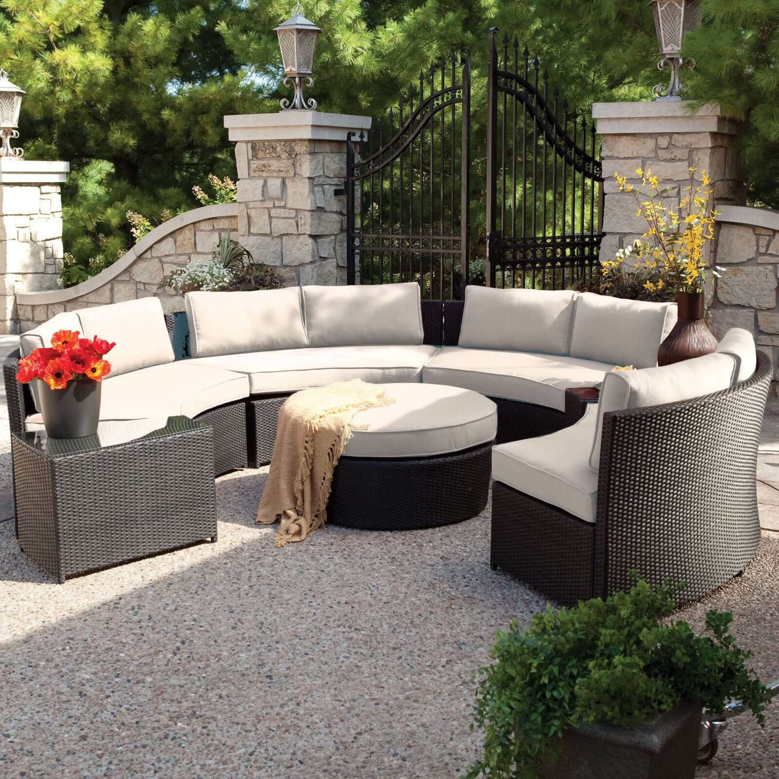 4 Awesome Modern Brown All-Weather Outdoor Patio Sectionals