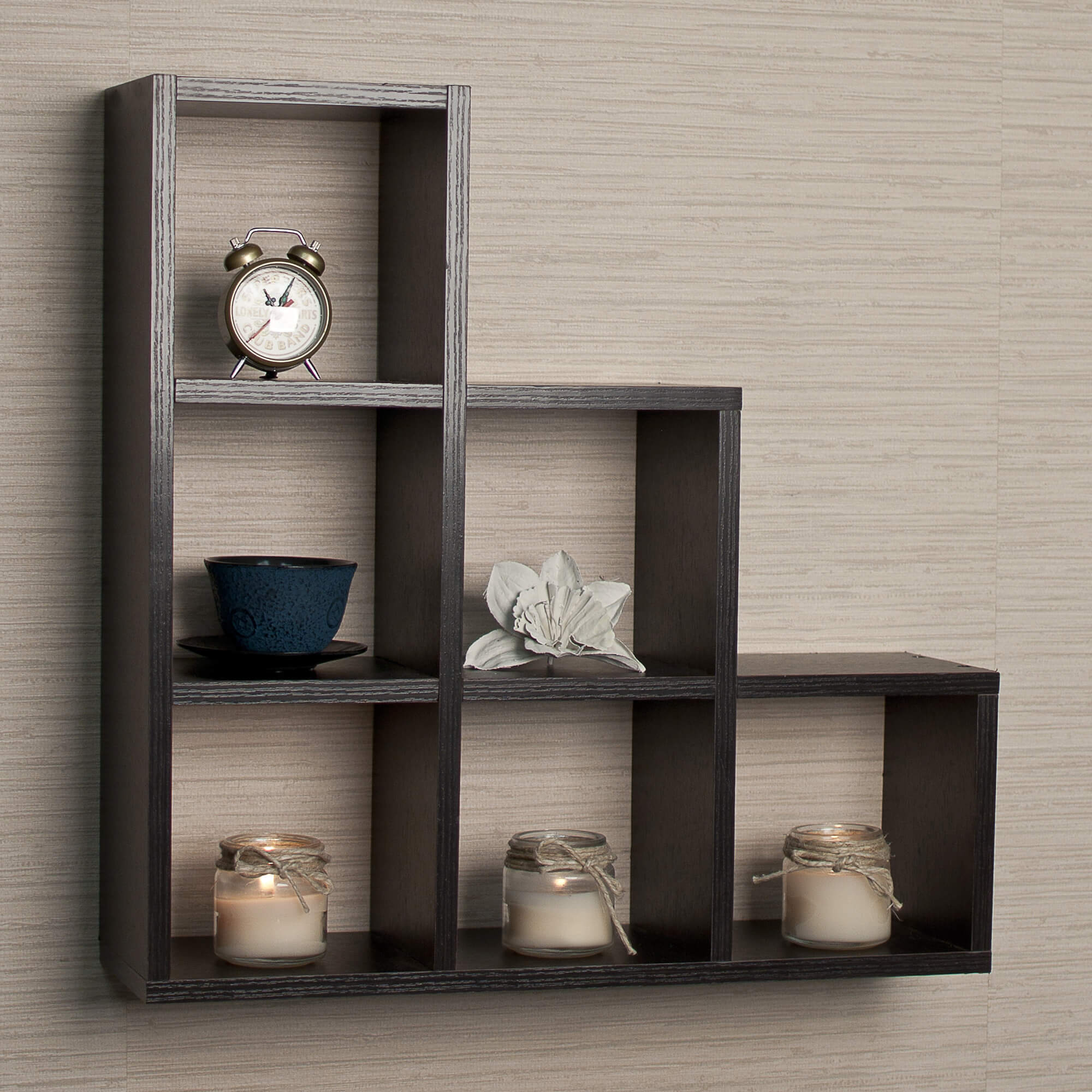 3way wall mounted cube shelf