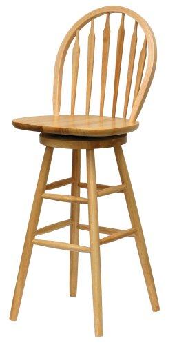 Oak swivel stool stool with Windsor back.