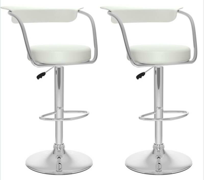 35 Stylish Modern Adjustable White Leather Bar Stools
