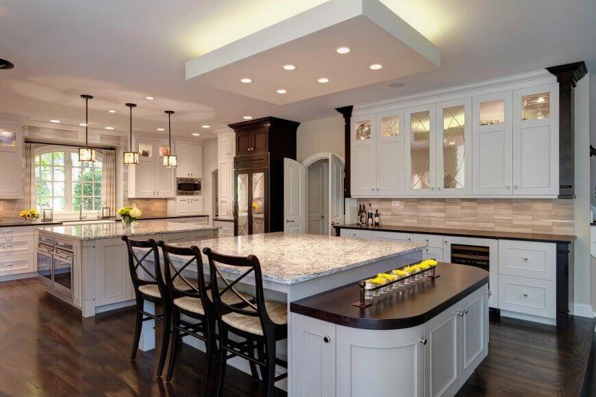 Luxury 2-island kitchen by Drury Design