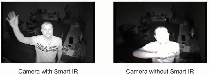 Camera with Smart Infra-red vs. camera without smart infra-red