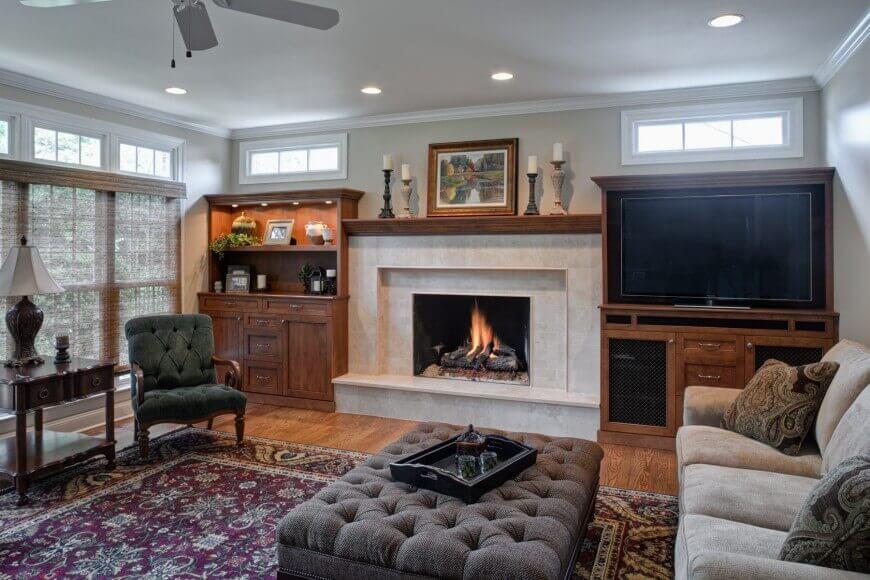 Contemporary family room design by Drury Design