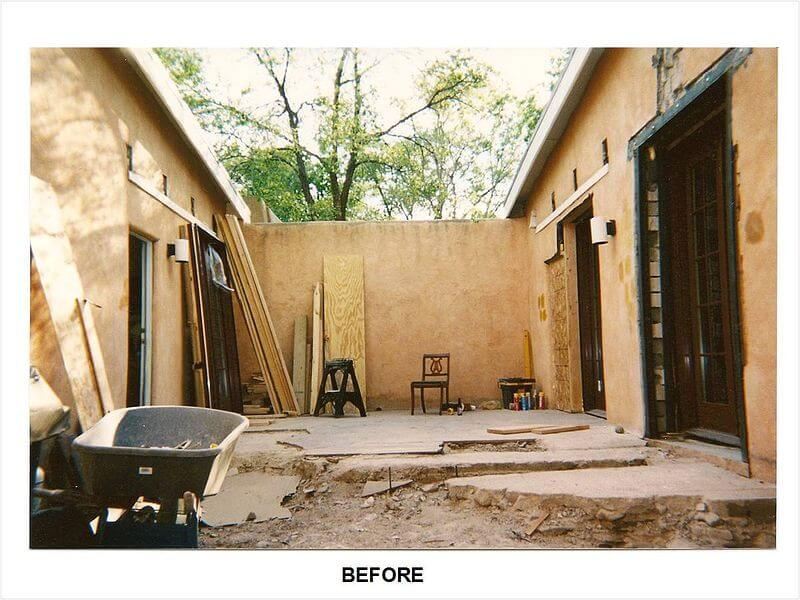 Finally, a look at the courtyard before Mark Design transformed it into the vibrant space it is now.