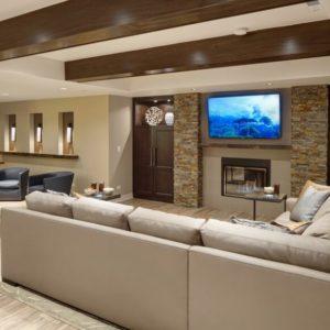 Custom rec room design by Drury Design