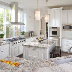Stunning white kitchen by Ellen Grasso in Dallas Home
