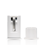Recessed door security sensor by Frontpoint Security Service