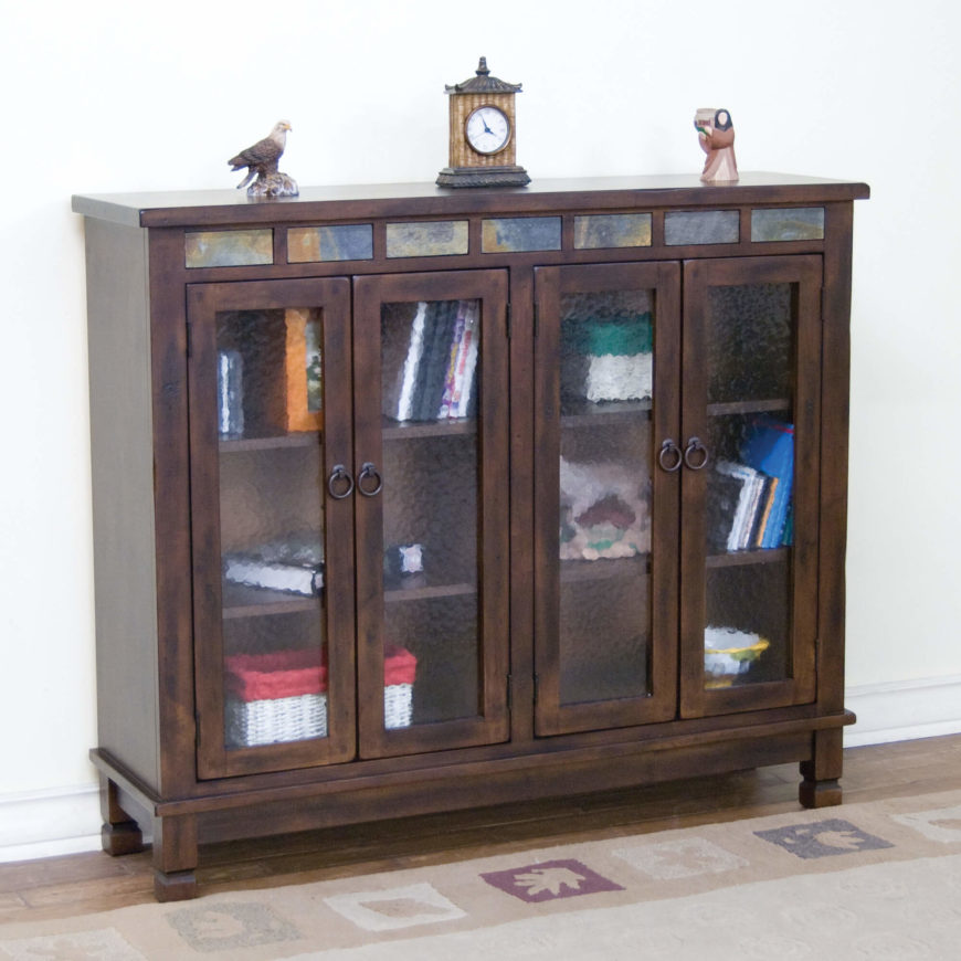 The barrister bookcase design was originally crafted to assist lawyers in the storage and mobility of their extensive law book collections. As such, they employ doors with often smoked glass to keep the books in place as the unit is moved.