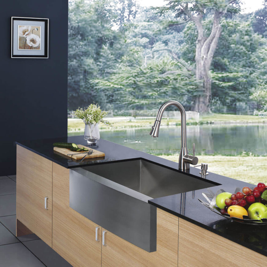 Beautiful modern kitchen sink