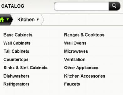 Homestyler's kitchen design module