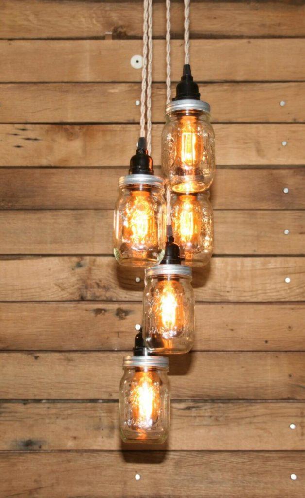 Mason Jar Kitchen Lighting