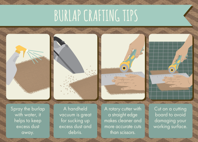 Burlap crafting tips.