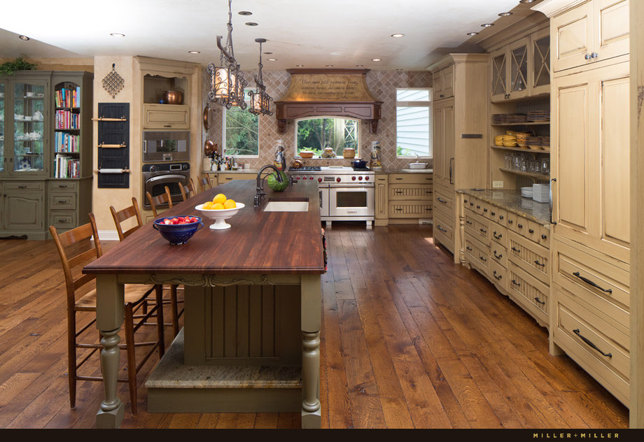 This kitchen is built for entertaining with multiple <a class=