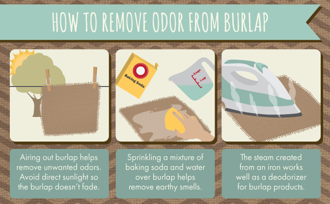 How to remove odor from burlap.
