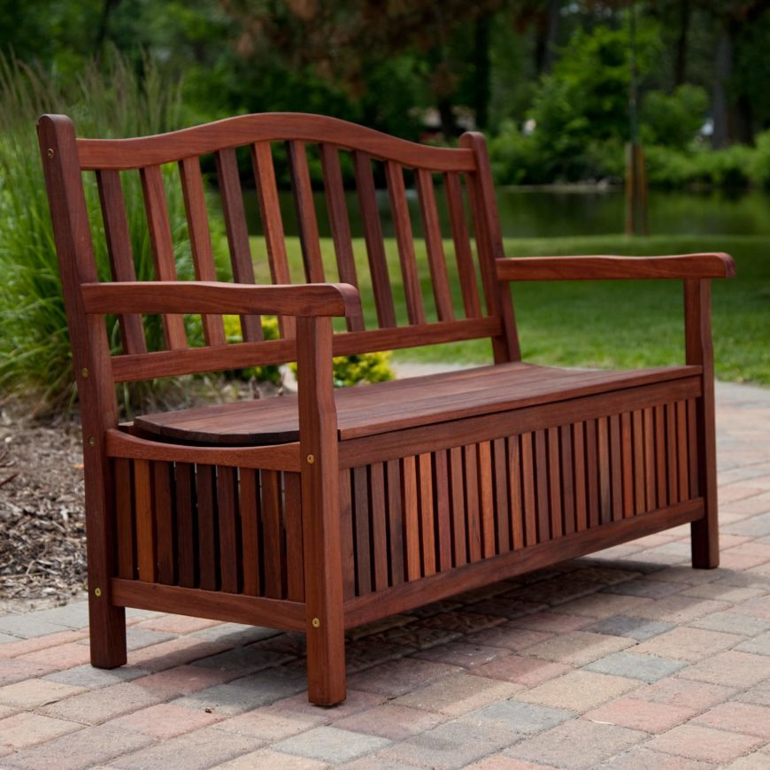The storage bench is an especially great choice for patio furniture, offering built-in space to keep cushions that need to stay dry. While wood is a solid choice, wicker models are also a very popular option.