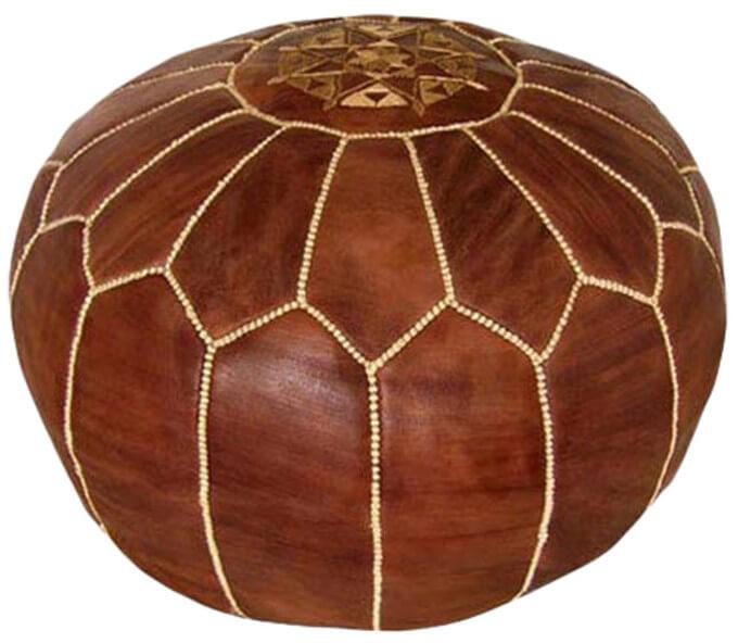 Pouf style brwon ottoman
