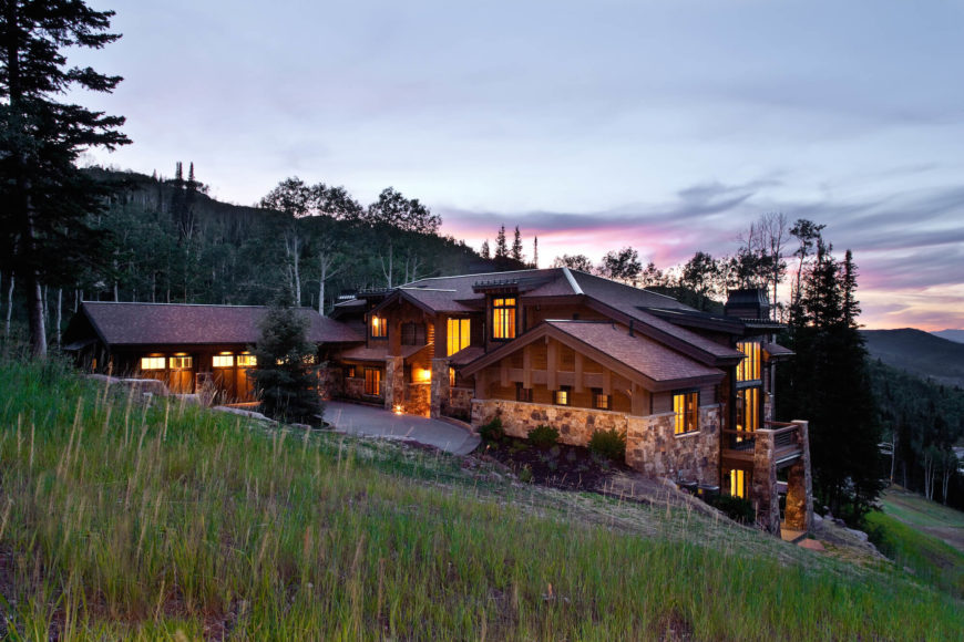 Luxury rustic chalet style custom home design by Jaffa Group