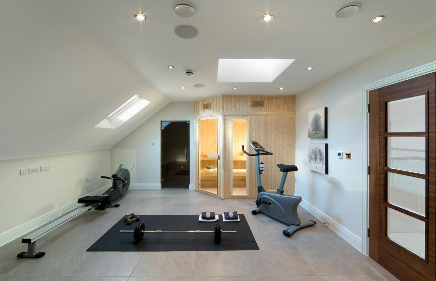 Attic home gym