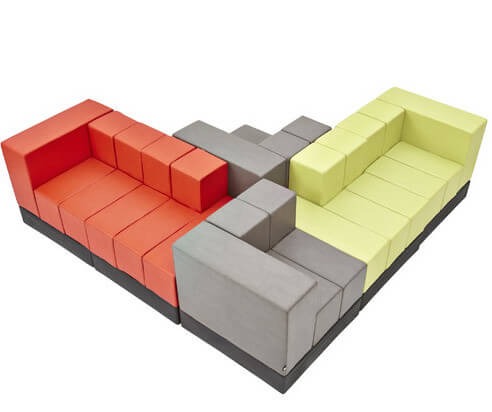 A truly unique sectional sofa that reminds us of a game of Tetris. The sectional is made up of blocks that can be rearranged to create an absolutely custom-tailored sectional for your home. This sectional also comes in custom colors.