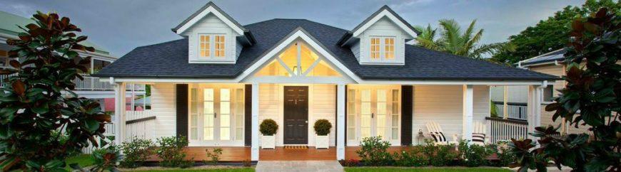 Exterior of the Queenslander-Hamptons home