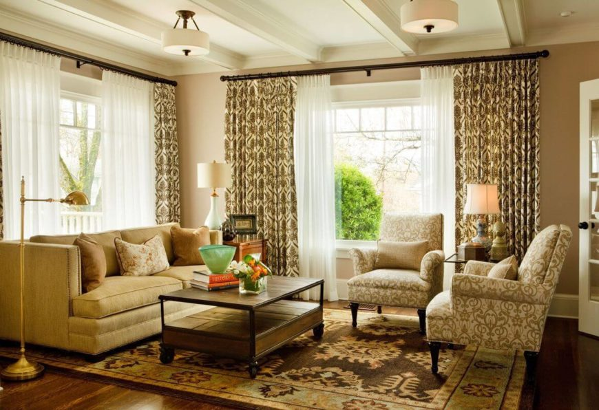 Cozy contemporary living room by Garrison Hullinger Interior Design