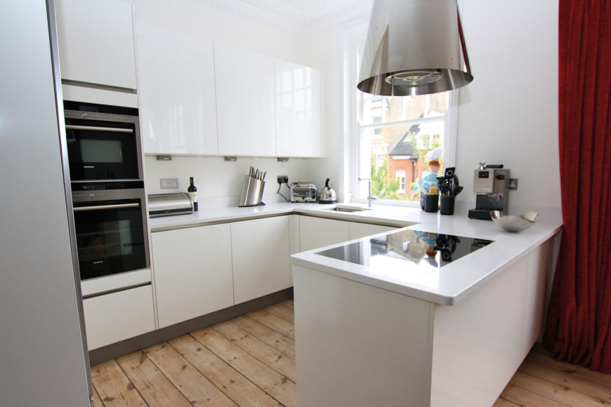 1. LWK Kitchens gloss white kitchen